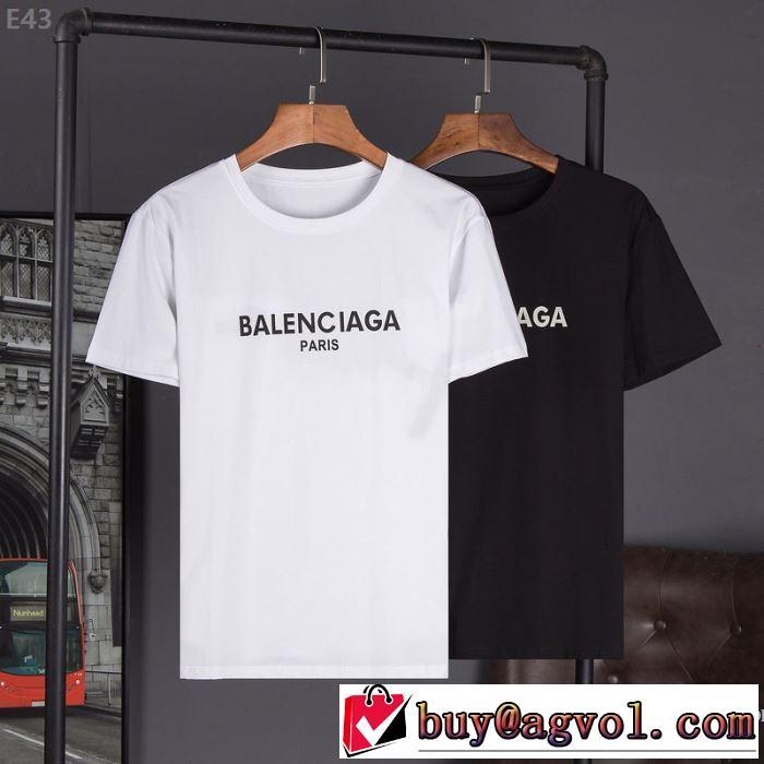 ブランド 品 激安 通販_プレゼントに 半袖Tシャツ BALENCIAGA バレンシアガ 3色可選 ~希少 2020春夏新作
