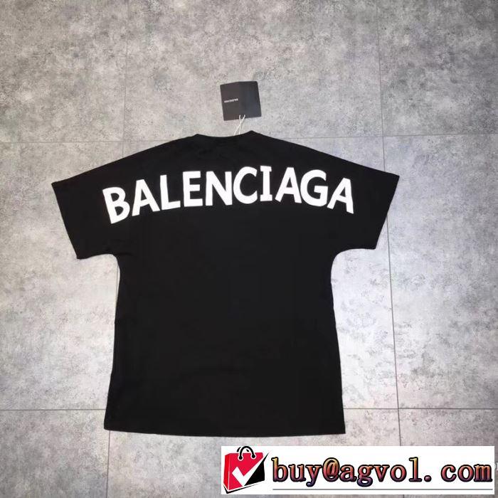 ブランド コピー 販売_BALENCIAGAバレンシアガ メンズTシャツ超激得高品質ロゴプリント半袖コットンクルーネック新作ブラック綿服シンプルホワイトトップス