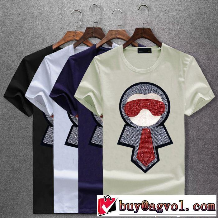 コピー 商品 販売_4色可選 フェンディ FENDI 18新品*最安値保証 最新入荷100%新品 半袖Tシャツ オススメアイテム