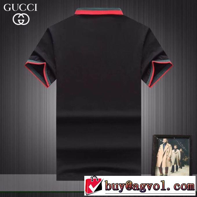 3色可選  オシャレに見せられます グッチ カジュアルめなコーデ GUCCI 半袖Tシャツ 2019トレンドスタイル!