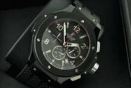 スタイリッシュ HUBLOT、 ウブロ メンズウォッチ 6針クロノグラフ 日付表示 45MM ブラック._品質保証