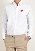 シックなイメージを与えるCOMME des GARCONS  コムデギャルソンホワイト長袖シャツ_品質保証