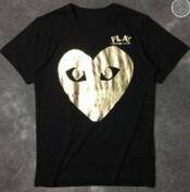 インパクト溢れるデザインCOMME des GARCONS コムデギャルソン 半袖Tシャツ ブラック グレー_品質保証