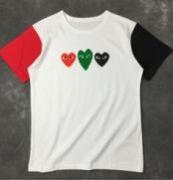 4色で配色COMME des GARCONS コムデギャルソン 可愛いTシャツ半袖 春夏 ホワイト_品質保証