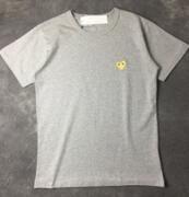 安定人気を誇るCOMME des GARCONS コムデギャルソン グレー半袖Tシャツ コットン_品質保証