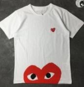 ブランドロゴプリントCOMME des GARCONS コムデギャルソン 春夏 半袖Tシャツ  カジュアル_品質保証