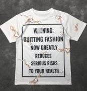 高品質なアイテム MOSCHINO モスキーノ  クルーネック半袖Tシャツ ネーム有り_品質保証