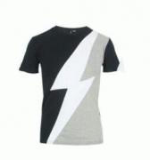雷のデザインNeil Barrett ニールバレット コピー 半袖Tシャツ 切り替え_品質保証