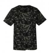 個性的なウワバミプリントデザイン MARCELO BURLON マルセロバーロン 通販 ブラッククルーネックTシャツ_品質保証
