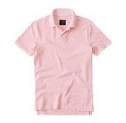 アバクロコピーブランド 優良Abercrombie&Fitch 半袖 ポロシャツ ライトピンク夏服メンズ_品質保証