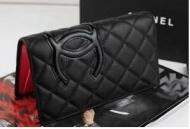 カーフスキン財布スーパー コピー ブランド コピー 財布カンボンライン二つ折り財布 ブラック長財布 ウォレットA26717_品質保証