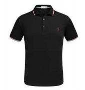 モンクレール ポロシャツ moncler  半袖ポロシャツ カジュアルファッショントップス メンズ ブラック ホワイト半袖_品質保証