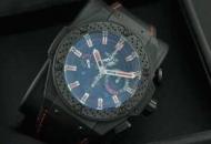 hublot 芸能人 人気 ウブロ キングパワー F1 時計メンズウォッチ ラバー ブラック 自動巻き 6針 日付表示 46MM_品質保証