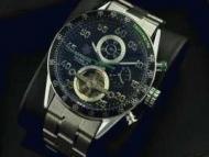 スーパーコピー タグホイヤー ウォッチtag heuer カレラ ブルー文字盤 自動巻きトゥールビヨン時計 メンズ 腕時計_品質保証