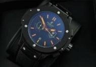 ウブロ 時計 メンズ hublot キングパワー 文字盤 黒 腕時計 自動巻き時計 人気ブランド ブラックラバー 防水_品質保証