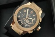 HUBLOTウブロ ビッグバン ブラック文字盤 メンズ時計 男性用腕時計 ゴールド 高級ウォッチ45MM日付表示 301.PX.130.RX_品質保証