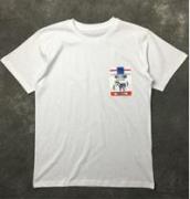 高品質 MOSCHINO モスキーノ tシャツ ブランド 人気 ネーム有り コットン綿 メンズ レディースホワイト半袖tシャツ クルーネック_品質保証