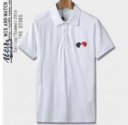 モンクレールMONCLERメンズ半袖ポロシャツ 胸ロゴワッペン コットンブラック ホワイト グレー ネイビー MC831880084556_品質保証