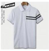 MONCLERモンクレール メンズ 半袖ポロシャツ ブランド シンプル ブラックホワイトグレー コットン ネック メンズファッション_品質保証