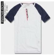 人気 THOM BROWNE トムブラウン 通販 メンズ 半袖Tシャツ コットン クルーネック ホワイト グレー ブルー 個性的 男性用服_品質保証