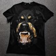 GIVENCHY  ジバンシィ Rottweilerプリント半袖Tシャツ メンズ レディース クルーネック 100%コットン 16F7370651001_品質保証