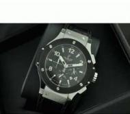 HUBLOT ビッグバン 人気 ウブロ メンズ 腕時計 メードインジャパンクオーツVK ブラック 男性用腕時計 ラバー_品質保証