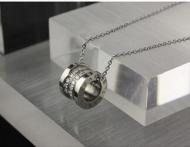 ブルガリ BVLGARI レディースネックレス B-ZERO1 シルバー ダイヤモンド おしゃれ 人気351117CL857519 ペンダント、チョーカー_品質保証