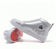 CHRISTIAN LOUBOUTIN クリスチャン ルブタン コピー 靴 シューズ スニーカー ルイス Louis Flat シルバーハイカットスニーカー_品質保証