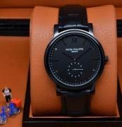 Patek Philippe パテック フィリップ カラトラバ 人気 時計 ウォッチ ブラック シンプル 腕時計 恋人ウォッチ レザー 新品_品質保証
