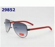 Rayban レイバン 偽物 サングラス 高級 メンズ ロゴ入り 人気 グレー レッド サングラス お買い得本物保証 メンズ メガネ 眼鏡