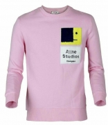 激安 ブランド 人気 アクネ ステュディオズ Acne Studios 通販 スウェット 高品質 コットン メンズ クルーネック ピンク 男女兼用