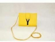 Yves Saint Laurent 超人気美品 イヴサンローラン バッグ カバン 品質保証 レザー レディース ショルダーバッグ トートバッグ イエロー