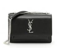 YSL バッグ イヴサンローラン レディースバッグ 人気 ショルダーバッグ コピー チェーンウォレット Sunset Minibag サンセット 498779D420N1000 ミニ バッグ ブラック