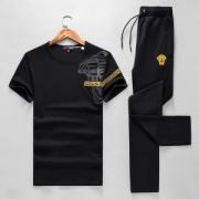 ヴェルサーチ VERSACE 2018春夏新作 首胸ロゴ 上下セット 2色可選 魅力ファッション