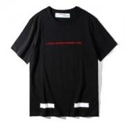 人気Tシャツブランド2018春夏オフホワイトOFF WHITEクルーネック英字プリントメンズ上質コットン半袖レディースブラックホワイト黒