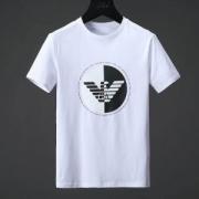 アルマーニARMANI JEANS Tシャツメンズおしゃれ丸いロゴプリント半袖カジュアルクルーネックコットントップスブラックホワイト