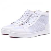 ホワイトメッシュルブタン 靴CHRISTIAN LOUBOUTINシューズメンズハイカットスニーカーレディースシンプルおしゃれ歩きやすい