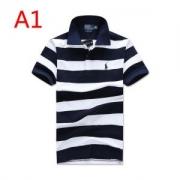 Polo Ralph Lauren ポロシャツメンズポロラルフローレン半袖大人気ボーダーデザイン刺繍ロゴコットン通気性抜群カジュアル服4色