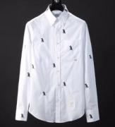 THOM BROWNE2018春夏モデル最新入荷かっこいい綿素材無地通気性男性用シャツトムブラウン シャツ 通販