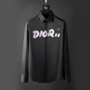 ディオール コピー長袖シャツDior 2色無地シャツメンズスーパーコピー プリントロゴ 年齢を問わず 着心地のやさしいスタイル 軽量ストレッチあり