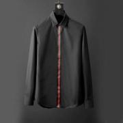 GUCCI無地メンズ長袖シャツスーパーコピー 黒白2色グッチシャツコピー 使い勝手も良好 通勤お出かけ普段にも 万能アイテム 紳士愛用スタイル