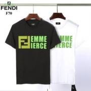 スペシャルプライス 半袖Tシャツ 大人っぽく見せてくれフェンディ FENDI 柔らかで軽い印象を与える 2色可選 春夏の定番新品