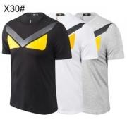 3色可選 夏に軽やかな印象半袖Tシャツ 最新ファッション、トレンドアイテム フェンディ 2019年春夏の流行アイテム FENDI おすすめコーディ