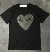ダイヤ施されるCOMME des GARCONS コムデギャルソン コピー半袖 Tシャツ 黒白_品質保証