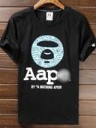 上質感を引き立つAPE エイプ 半袖クルーネックロゴTシャツ ブラック レッド_品質保証