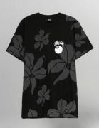 百合花柄デザインSTUSSY ステューシー ロゴ半袖Tシャツ メンズファッション_品質保証