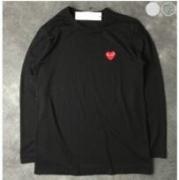 レッドロゴデザインCOMME des GARCONS コムデギャルソン tシャツ長袖Red Play T-Shirt コットン_品質保証