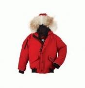 CANADA GOOSE カナダグース ダウンジャケットKID'S STYLE子供用レッドジャケット LYNX PARKA 4595Kメンズ レディースアウター コート_品質保証