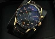 大人気 腕時計 メンズ 20代 ウォッチ tag heuer タグホイヤー フォーミュラ1 男性用時計 自動巻きレザー ブラック ゴールド_品質保証