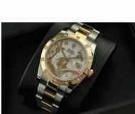 コピーロレックス ROLEX 人気 デイトジャストおしゃれウォッチ 恋人腕時計 高級時計 ゴールド ダイヤベゼル 日付表示 自動巻き_品質保証